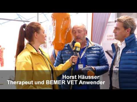 Interview mit Peter Kaiser und Horst Haeusser ueber BEMER VET fuer Pferde