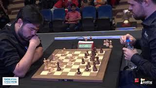 Check the famous Naka expressions at the end vs Carlsen | Tata Steel India blitz 2019