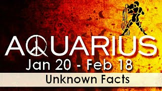 Psychological Facts About AQUARIUS   You Never Knew AQUARIUS Zodiac   Personal Traits Of AQUARIUS