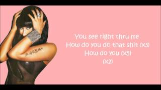 Nicki Minaj - Right Thru Me Lyrics Video