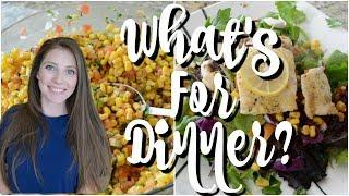 WHAT'S FOR DINNER | EASY DINNER IDEAS | WORKING MOM EASY DINNERS | AFFORDABLE DINNER IDEAS
