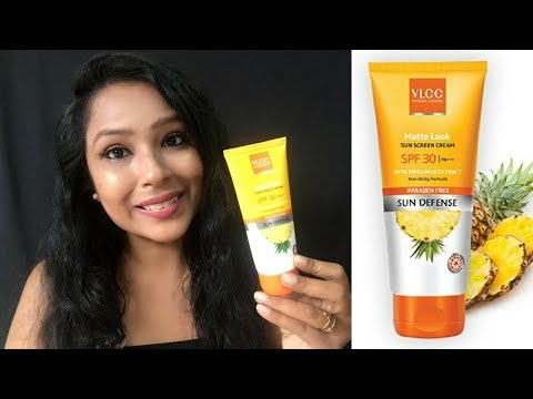 VLCC  Sunscreen SPF 30 |  Paraben Free | Review & Demo