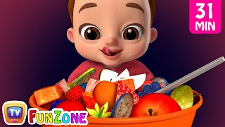 Johny Johny Yes Papa Healthy Food plus More Nursery Rhymes & Kids Songs - ChuChuTV Funzone