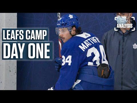 Auston Matthews Headlines Day One Of Leafs Camp | Instant Analysis
