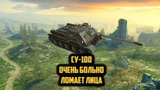 СУ 100  мастер + расейняй WOT Blitz