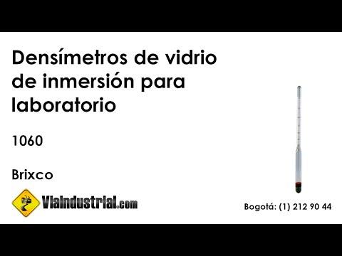 Densímetros de vidrio de inmersión para laboratorio