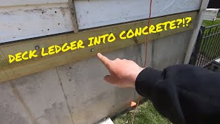 Building a Deck and Pergola - Attaching the Ledger Board to a Concrete Foundation