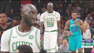 Tacko Fall Shocks Celtics Crowd In 2019 NBA Preseason Debut! Celtics vs Hornets
