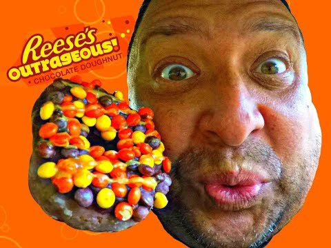 Krispy Kreme® Reese's Outrageous Chocolate Doughnut REVIEW!