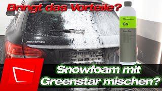 Snowfoam mit Koch Chemie Green Star mischen? Bringt das was? Neutralen Snowfoam alkalischer machen?