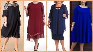 New Arrival New Women Fashion Plus Size Elegant Sheets Dresses Loose Fitting Casual Chiffon Dress