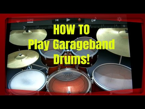 GarageBand Tutorial Part 1 Drums, Song, and Track menus