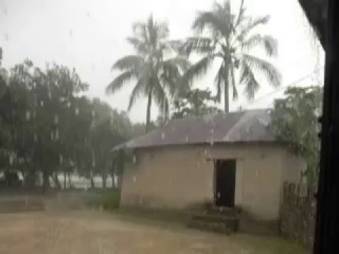 Enjoy wonderful raining in the village of Bangladesh : How to know about raining in rainy season.