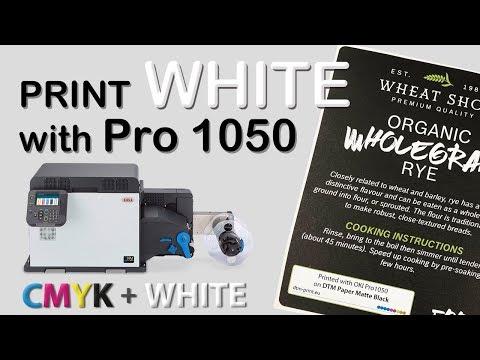 OKI Pro1050 print CMYK + WHITE labels