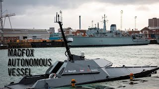 video: Royal Navy takes delivery of robot super-vessel to counter Channel traffickers