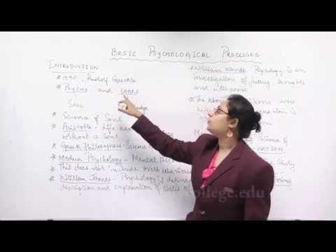 Lecture on Basic Psychological Processes