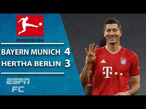 Robert Lewandowski SCORES FOUR! Bayern Munich's thrilling win vs. Hertha Berlin   ESPN FC Bundesliga