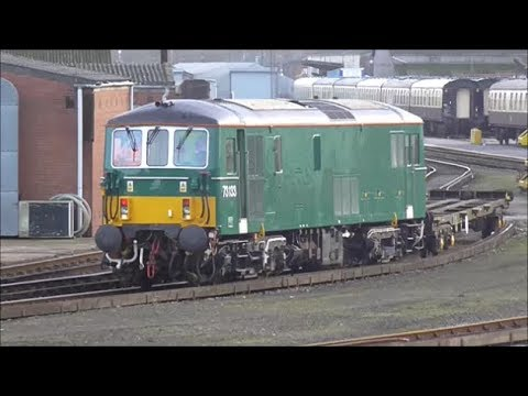 BR Green 73133 shunting wagons around Eastleigh Arlington Wo…