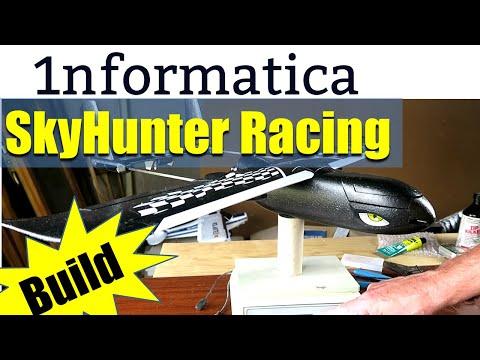 Sonicmodell Skyhunter Racing 787mm Wingspan EPP FPV RC Airplane Racer KIT Build