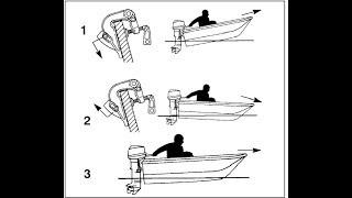Как правильно установить мотор на транец лодки