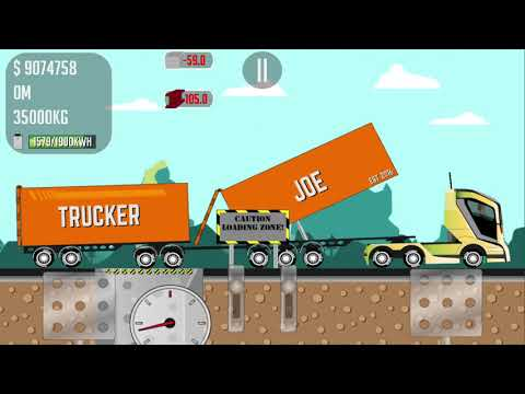 SUPER GAME TRUCKER JOE TRANSPORTING STEEL TO A COPPER MINE CONSTRUCTION SITE