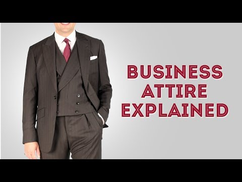 Business Attire Dress Code For Professional Men