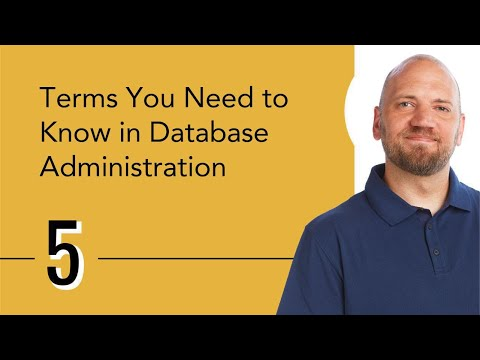 Terms You Need to Know in Database Administration - YouTube