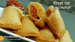 Pizza McPuff Recipe – Veg Pizza Parcel – वेज पिज़्ज़ा पफ – McDonald Style Veg Pizza Puff