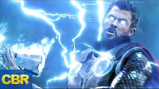 Why Thor's Stormbreaker Axe Uses Blue Fire And Not Lightning