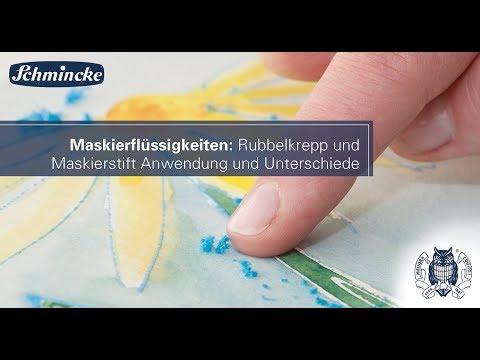Maskierflüssigkeiten: Rubbelkrepp und Maskierstift Anwendung und Unterschiede