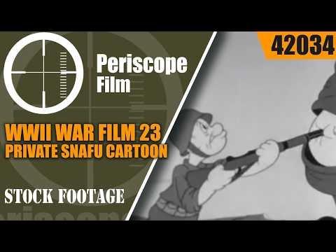 WWII WAR FILM 23  PRIVATE SNAFU CARTOON & LEDO ROAD IN CHINA / BURMA   42034