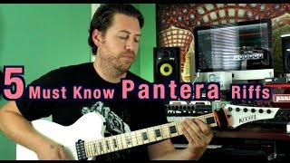 5 Must Know Pantera Riffs!