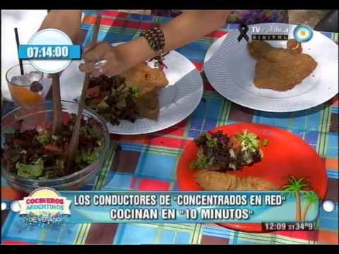 Milanesas con papas fritas con Concentrados en Red