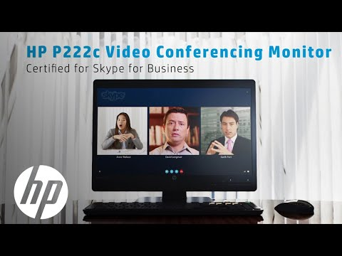 Certified for Skype for Business | HP Video Conferencing Monitor ...