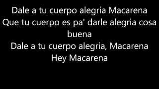 Macarena   Los Del Rio, Lyric Video (Hey Macarena!)