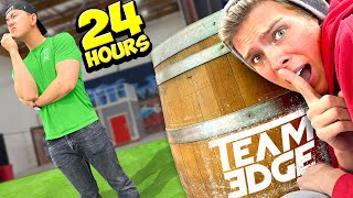 We snuck into their Warehouse and Spent the Night! *24 HOUR CHALLENGE*