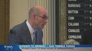 Speaker Dennis Bonnen apologizes to Texas House members