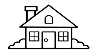 How To Draw Beautiful House Drawing And Painting Rainbow Colouring Pages Glitter Very Easy Drawings