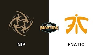 NIP vs Fnatic - Overpass - Quarter-Final - CORSAIR DreamHack Masters Malmö 2019