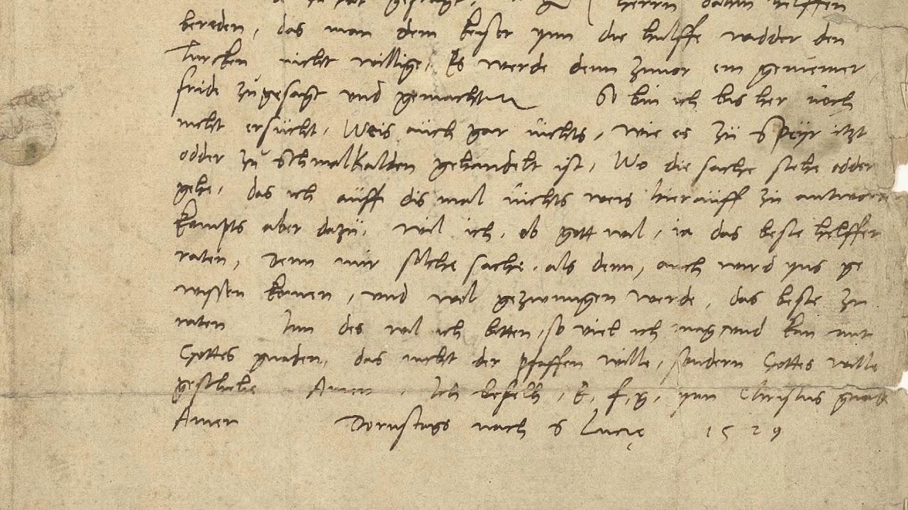 Streiflichter aus der Geschichte: Hundert Lutherbriefe im Staatsarchiv Marburg.
