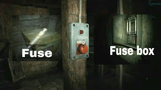 How to Find Fuse for Restore Power to stairs in Resident evil 7 BioHazard 7 -therazkhan-theradbrad