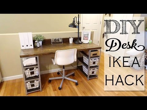 DIY Desk Build | IKEA HACK