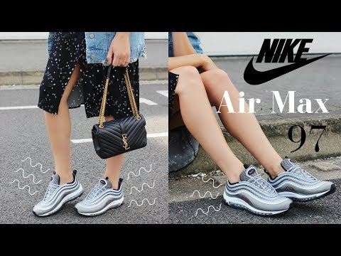 NIKE AIR MAX 97 Ultra 2017 Unboxing Try On Size Review | Silver Bullet & Cream / Khaki