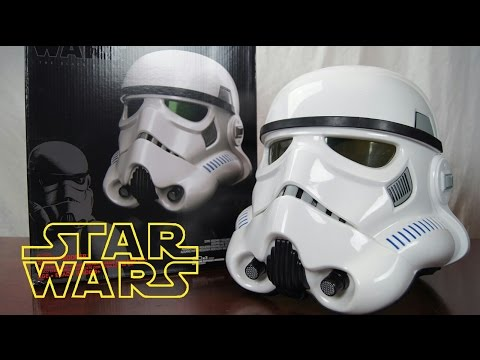 STAR WARS BLACK SERIES Stormtrooper Helmet Voice Changer Review with Voice Test
