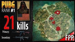 PUBG Rank 1 - pr0phie 21 kills [NA] 2 man Squad FPP - PLAYERUNKNOWN