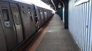 preview picture of video 'BMT Jamaica Express and Local: Jamaica Center & Brooklyn bound R-42 & R-160A-1 J trains @ 111th St!'