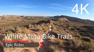 White Mesa Bike Trails in 4k