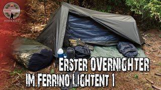 Ferrino Lightent 1 - Erste Übernachtung - Günstiges ein Personen Zelt