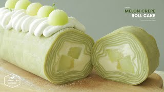 멜론 크레이프 롤케이크 만들기 : Melon Crepe Roll Cake Recipe | Cooking tree