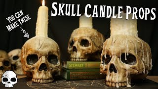 DIY Halloween Skull Candle Props (Super Easy To Make!)
